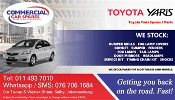 Toyota Yaris 2008- body parts and spares for sale