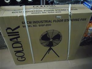 GOLDAIR 60CM INDUSTRIAL FLOOR STANDING FAN NEW