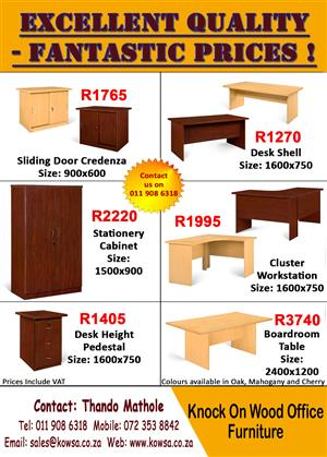 Excellent Quality Office Furniture- Fantastic Prices.
