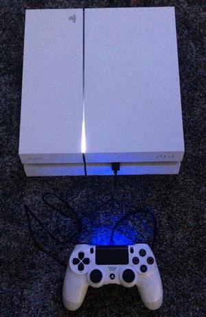 Sony PS4 Glacier white with FIfa 20 Full digital installed 500gb