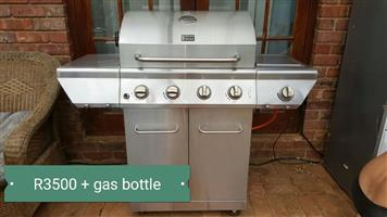 Big braai with gas bottle for sale