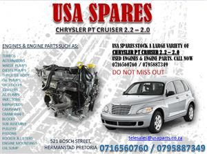 CHRYSLER PT CRUISER 2.2 2.0 ENGINES AND ENGINE PARTS FOR SALE- USA SPARES