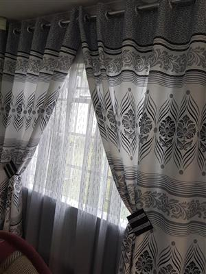Grey and white curtains for sale