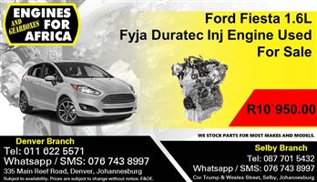 Ford Fiesta 1.6L Fyja Duratec Inj Engine Used For Sale.