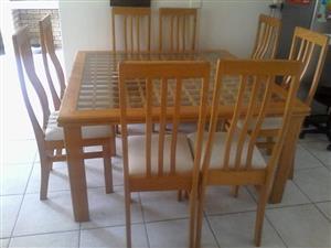 8 Seater Dinning Room Set + 3 Drawer Cupboard