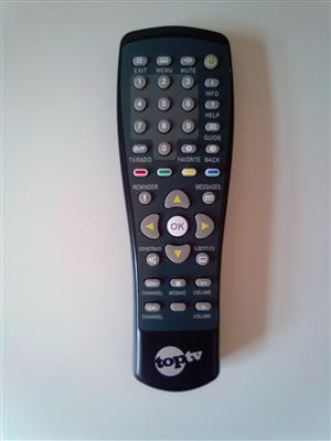 Remote Control For Top TV  Decoder. As good as new. I am in Orange Grove.