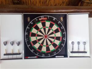 Puma Dart Board in Cabinet