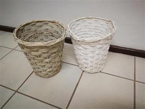 2 x wooden dustbins