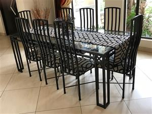 8 seat dining room tables and chairs in good condition for sale  Krugersdorp