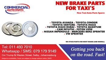 New Brake Parts and Spares For Taxis.