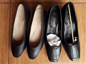 BLACK CHIC SLIP ON SHOES