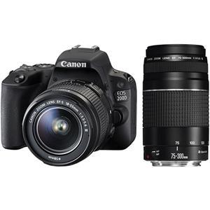 Canon 200D DSLR Triple Lens Value Bundle Kit