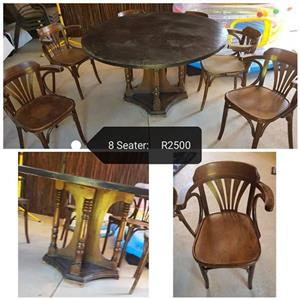 8 Seater round dining set for sale