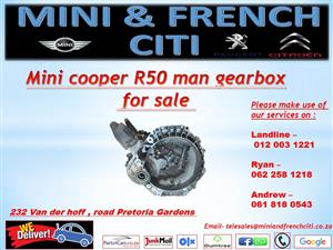 Mini cooper R50 manual gearbox  for sale !!