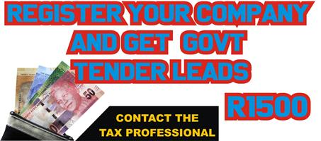 START YOUR OWN BUSINESS TODAY - ON PROMOTION - WE WILL POSITION YOU TO RECEIVE GOVT TENDERS