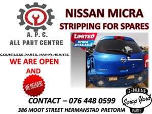 Nissan Micra stripping for spares