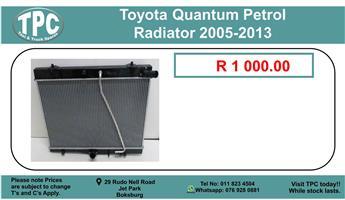Toyota Quantum Petrol Radiator 2005-2013 For Sale.
