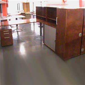 Desk plus pedestal plus credenza plus b/shel and cabinet