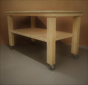Kitchen Island Cottage series 1500 extended width mobile Raw