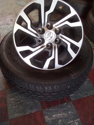 Toyota rims and tyre for spare wheel