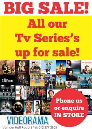 WIde variety of TV series's for sale