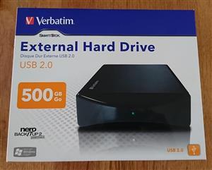 Verbatim 500gb external Harddrive