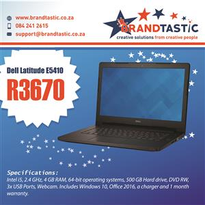 Dell Latitude E5410 Laptop & Charger @ R3670