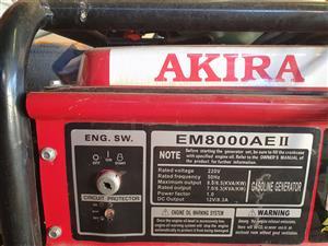Akira EM8000EA II 8KVA/6.5KW Generator NEW!