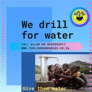 Commercial, residential and industrial water drilling by Topline in Gauteng