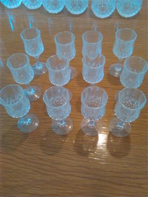 Crystal d Arc liqueur glasses