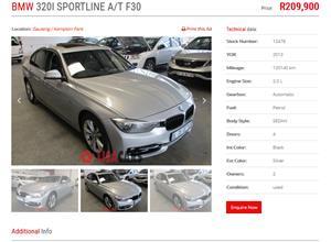 2013 BMW 3 Series 320i Sport Line sports auto
