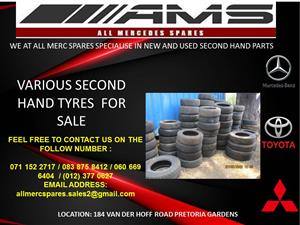 VARIOUS SECOND HAND TYRES FOR SALE