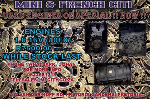 USED ENGINES FOR PEUGEOT 206,207,307 ON !! SPECIAL NOW !!