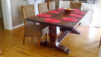 20 year old Wetherlys 8 seater hardwood table for sale.