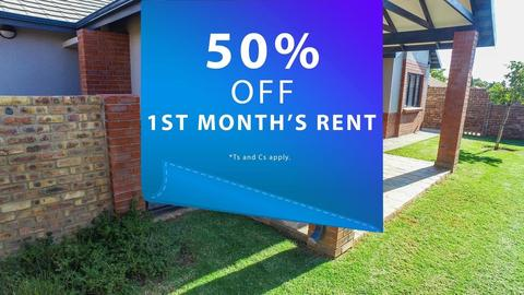 50% OFF FIRST MONTH'S RENT!*