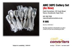 AMC 38PC Cutlery Set (As New)
