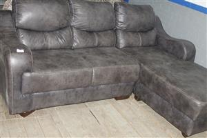 Brown L shaped couch S036858B  #Rosettenvillepawnshop