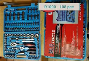 MLG 108 piece drive socket wrench set