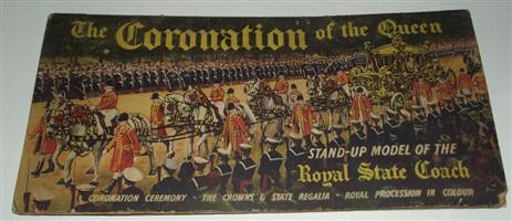 The Coronation of the Queen . Stand-Up Model book