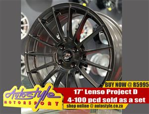 17inch Lenso Project D 4-100 pcd sold as a set of four