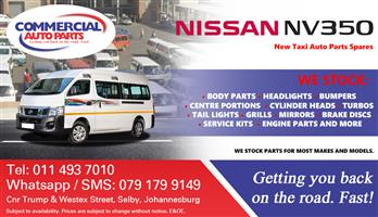 Nissan NV350 Impendulo Parts and Spares For Sale.