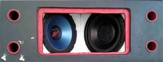 Kenwood and Pioneer 12inch subs sold with custome made box