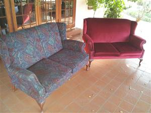 tWO TWO SEATER COUCHES