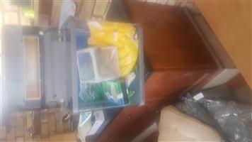 Headboard, lounge table, server, dining chairs,armchair,fish tank