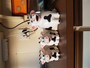 Cow Coffee Porcelain Set For Sale 3 piece