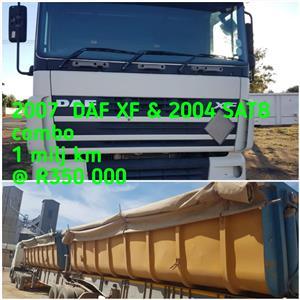 2007 DAF XF & 2004 SATB combo