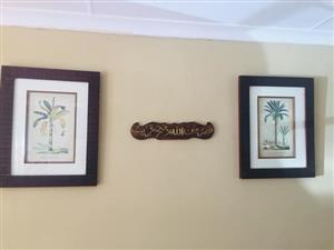 2 Framed tree paintings for sale