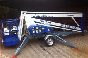 VerticalZA Nifty 140HPE -14m CHERRY PICKER, Portable Trailer Mounted Manlift