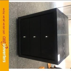 black wooden drawers