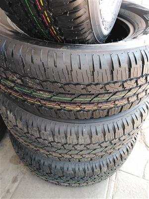 265/65/17 Bridgestone dueller AT tyres